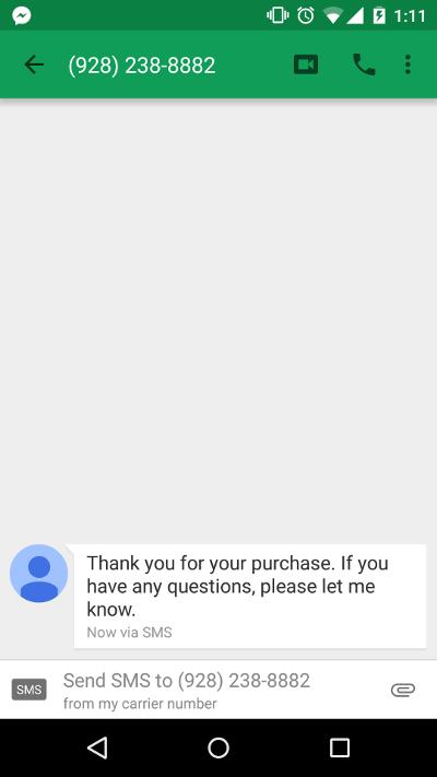Send SMS Text