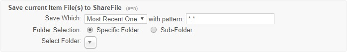 "This action with the ""Sub-Folder"" option selected"